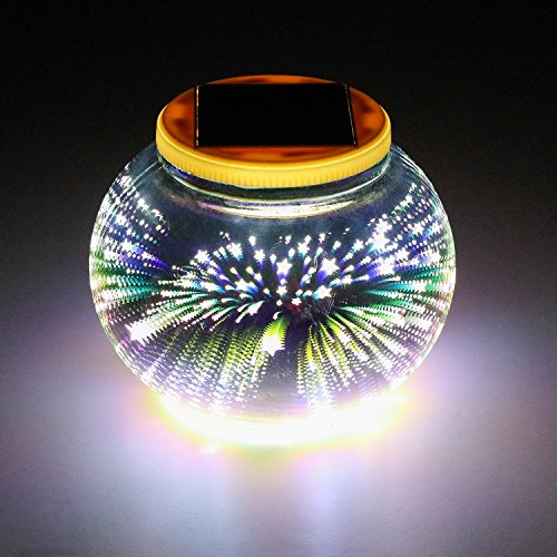 Mosaic Solar Light,Color Changing Pandawill Waterproof/Weatherproof Crystal Glass Globe Ball Light for for Patio, Garden, Yard,Party, Outdoor/Indoor Decoration by WIN WIN