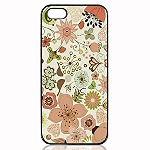 Chic Flowers Custom Hard Plastic back cell Phones Case for Apple iphone5 - iphone 5s Case Cover