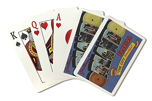(Orlando, Florida - Large Letter Scenes (Playing Card Deck - 52 Card Poker Size with)