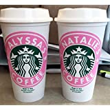 Personalized Starbucks Cups with Lids-16 ounce reusable cups-Coffee Cups