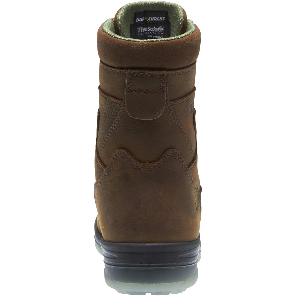 Wolverine I-90 DuraShocks Waterproof Insulated Steel Toe 8'' Work Boot Men 13 Stone by Wolverine (Image #8)