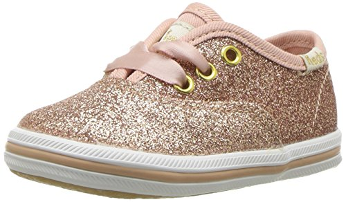 Keds Girls' Champion Glitter Crib, Rose Gold, 1 Medium US Infant (Girls Infant Keds Shoes)