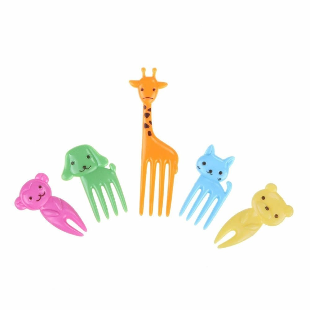 GOOTRADES Cute Animal Food Fruit Picks Forks Lunch Box Accessory Decor Tool (pack of 10) IFMSSVHU17549