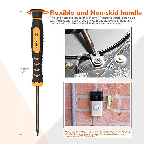 Teckman Ring Doorbell Screwdriver, Screwdriver for Ring - Import It All