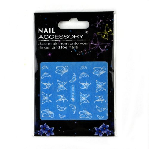 Malloom Pretty Luminous Butterfly Design Nail Art Stickers Decals Decoration