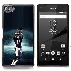 - 17 NFL Football - - Cubierta del caso de impacto con el patr??n Art Designs FOR Sony Xperia Z5 compact / mini Queen Pattern