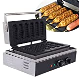 Ridgeyard Lolly Waffle Maker 1550W Sausage Waffle Maker 5 Pcs Non-stick Waffle Maker Commercial Waffle Dog Machine Great Christmas Present for Snack Bar Home