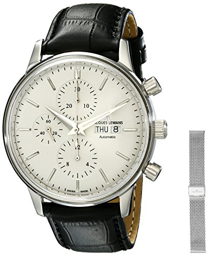 Jacques Lemans Men's N-208A Classic Analog Display Swiss Automatic Black Watch