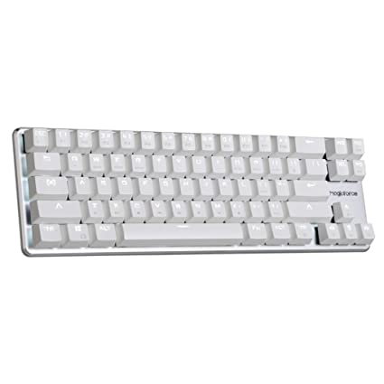 b0c538f5a61 Amazon.com: Qisan Gaming Keyboard Mechanical Wired Keyboard Cherry MX Brown  Switch Backlight Keyboard 68-Keys Mini Design White: Computers & Accessories