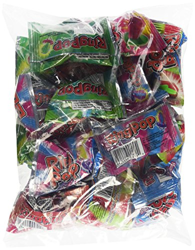 Ring Pop's Individually Wrapped Jewel Shaped Hard Candy Variety 20 (Candy Jewels)