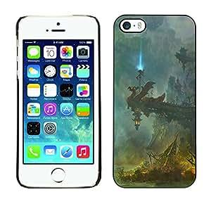 // PHONE CASE GIFT // Duro Estuche protector PC Cáscara Plástico Carcasa Funda Hard Protective Case for iPhone 5 / 5S / Fantasía Templo /