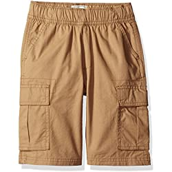 The Children's Place Big Boys' His Pull-On Cargo Shorts, Flax, 8