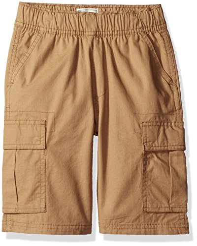 The Children's Place Boys' Husky Pull-on Cargo Shorts, Flax, 12 ()