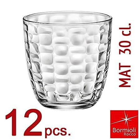 Bormioli Rocco–Juego Vasos Colección Mat 30–Capacidad 30cl