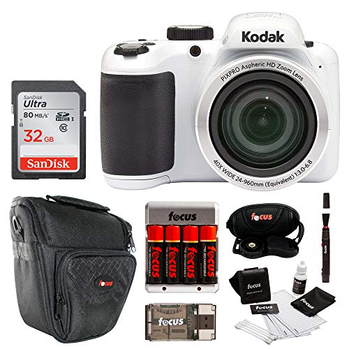 Kodak AZ401BW Point and Shoot Digital Camera with 32GB SD Card Bundle