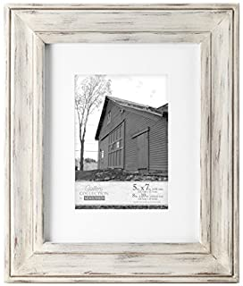 Malden International Designs Whitman White Wash Matted Wood Picture Frame, 5x7/8x10, White (B00N8YQAV8) | Amazon price tracker / tracking, Amazon price history charts, Amazon price watches, Amazon price drop alerts