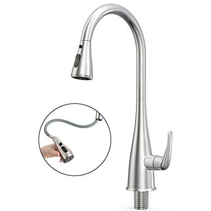 Kitchen Faucet Prymax Kitchen Sink Faucet Single Handle Pull Down Delta Kitchen Faucet With Pull Down Sprayer 360 Swivel Hot Cold Conversion