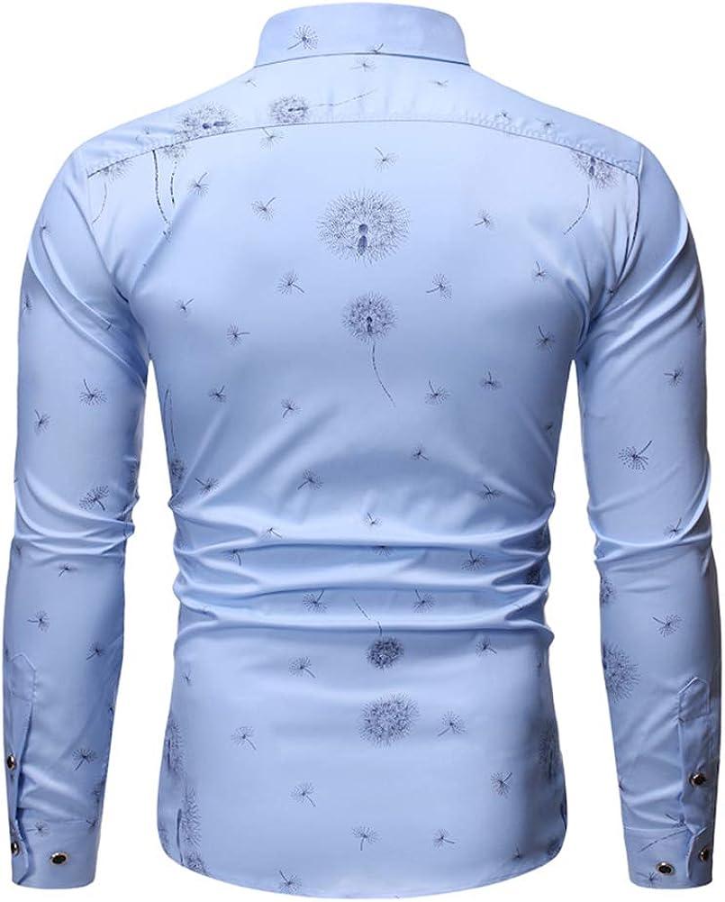 Mr.BaoLong&Miss.GO Otoño Camisa De Hombre Moda Casual Camisa De Tamaño Europeo Camisa De Diente De León En Relieve Camisa De Manga Larga De Negocios: Amazon.es: Ropa y accesorios
