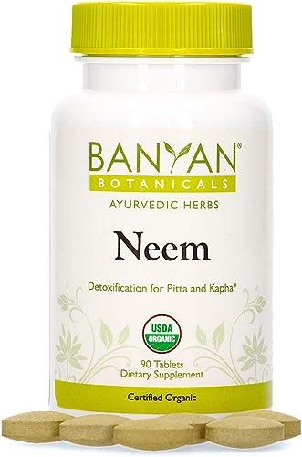 Banyan Botanicals Neem Tablets Organic Neem Supplement Azadirachta Indica