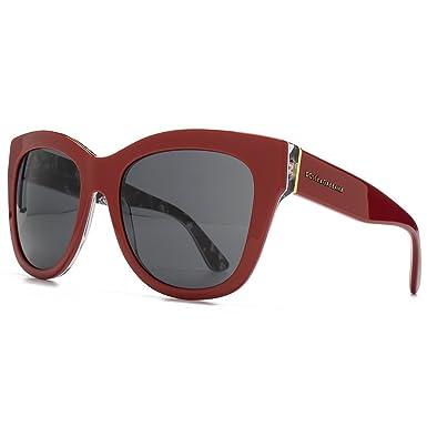 0f9a54e272e0bd Dolce   Gabbana Lunettes de soleil carré Rose imprimé en rouge rose DG4270  302087 55 55