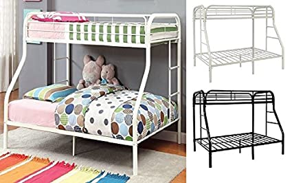 Furnituremattressdirect Metal Bunk Bed Twin Over Double White
