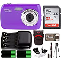 Vivitar VS126 16.1 Mega Pixel Digital Camera w/ Accessory Starter Kit - Purple