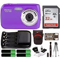 Vivitar VS126 16.1 Mega Pixel Digital Camera w/ Accessory Starter Kit - Purple