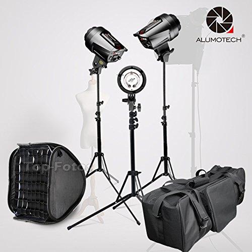 5500 K 255 wx3 Bowensマウント無段階減光フラッシュライト+ standx3 + softbox3 for Studioビデオカメラ写真撮影照明アクセサリー   B0798LV48V