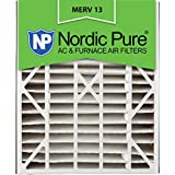 Nordic Pure 20x25x5 (4-7/8 Actual Depth) MERV 13 Trion Air Bear Replacement Pleated AC Furnace Air Filter, Box of 1