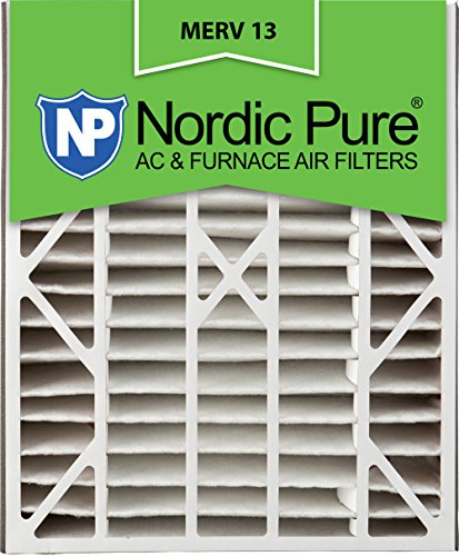 Air Bear Replacement - Nordic Pure 20x25x5 (4-7/8 Actual Depth) MERV 13 Trion Air Bear Replacement Pleated AC Furnace Air Filter, Box of 1