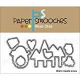Paper Smooches Warm Heart Icons Die
