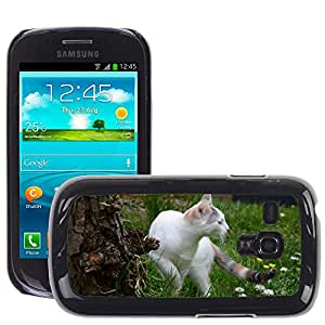 GoGoMobile Slim Protector Hard Shell Cover Case // M00124204 Cat Grass Lookout Cute // Samsung Galaxy S3 MINI i8190