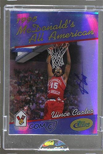 Vince Carter Ungraded Manufacturer Uncirculated (Basketball Card) 2006 eTopps McDonald's All American - [Base] - Autographs #VC