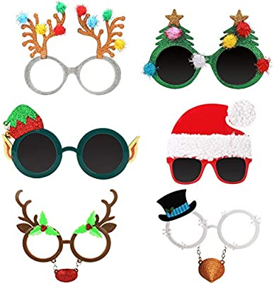 amazon com ocean line novelty christmas glasses 6 pack creative