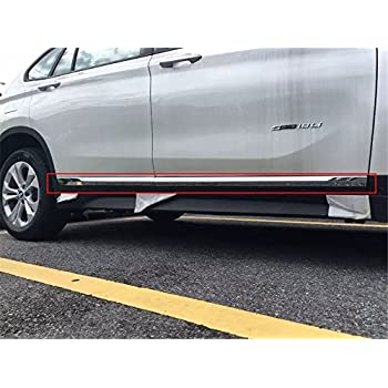 stainless for Audi Q5 2013-2016 rear door sills plate trim moulding bar plate