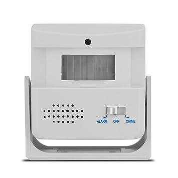 VBESTLIFE Alarma de Bienvenida de la Puerta Timbre de La Puerta Inalámbrica Bienvenido Invitado Detector del