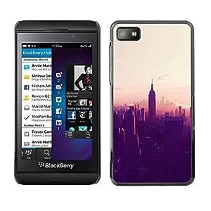 TopCaseStore / la caja del caucho duro de la cubierta de protección de la piel - City Sunset Empire State - Blackberry Z10