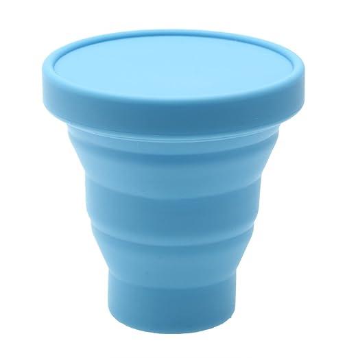 71 opinioni per 200ML Bicchiere da Tè Pighevole in Silicone Blu da Viaggio Campeggio