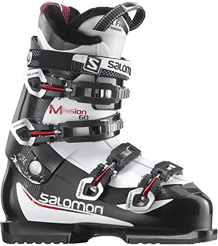 Salomon Mission 60 Ski Boots Black White Red Sz 12.5 (30.5) Mens (Salomon Mountain Ski Boots)