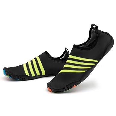 Bestow Zapatillas de Buceo con Rayas para Hombres y Mujeres Zapatos para Snorkel Zapatos para Nadar