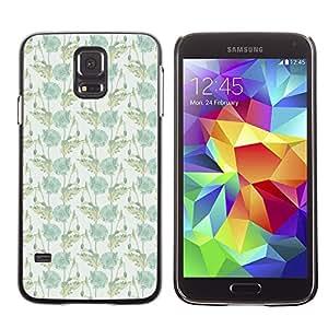 iKiki-Tech Estuche rígido para Samsung Galaxy S5 - Flower With Leaves