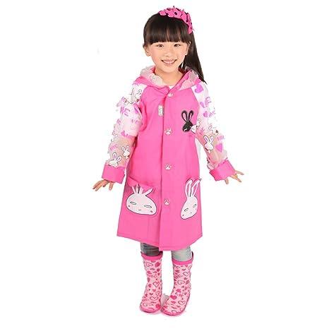1dff8ef62 Amazon.com   ezyoutdoor Cute Cartoon Waterproof Children Raincoats ...