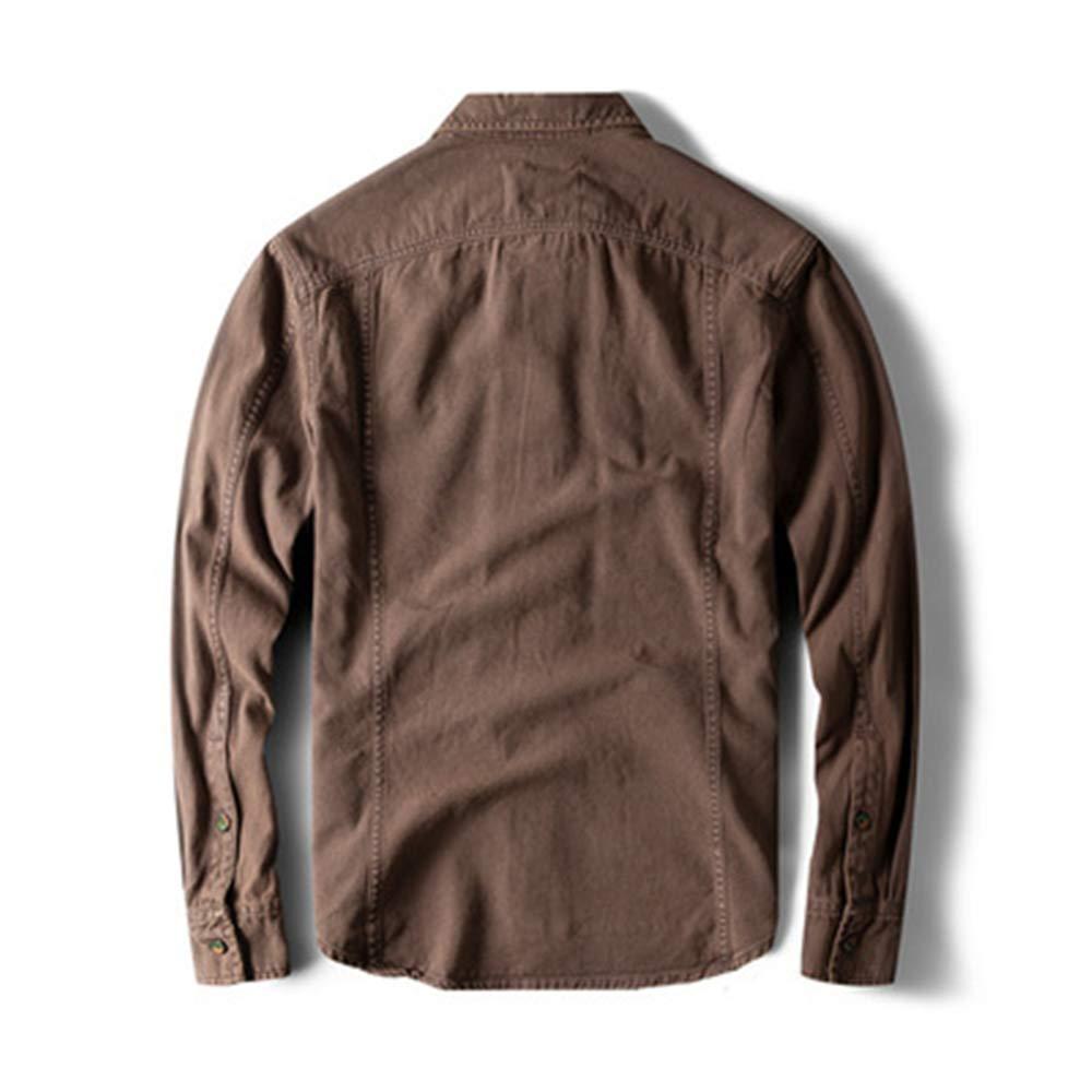 Mens Standard-Fit Long Sleeve Casual Shirt