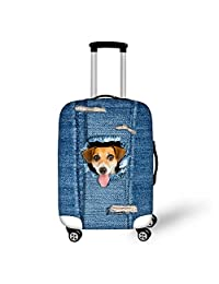 Bigcardesigns Cat Dog Spandex Luggage Covers Apply to 18-30 Inch Travel Suitcase