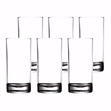 11 oz 330 ml Clear Glass Water Tumbler, Glass Glasses, Glass Water Cups for  Juice,Milk, Wine and Drinking,Set of 6