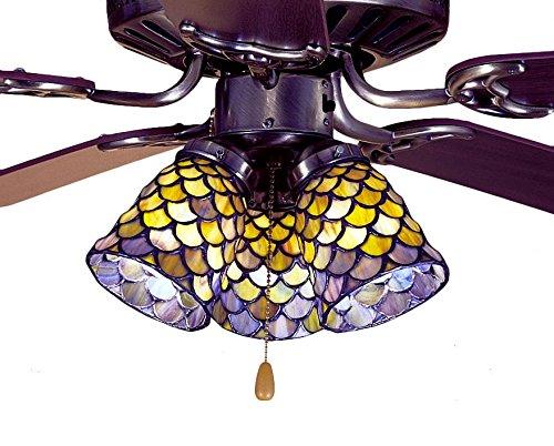 4 Inch W Tiffany Fishscale Fan Light Shade Color GYB/JP by Meyda