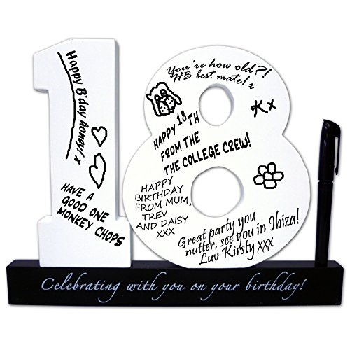18th Birthday Signature Numbers Christmas Xmas Holiday Present -