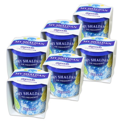 Pack of 6 My Shaldan Japanese Car Cup-Holder Natural Air Freshener Cans (Squash Scented)