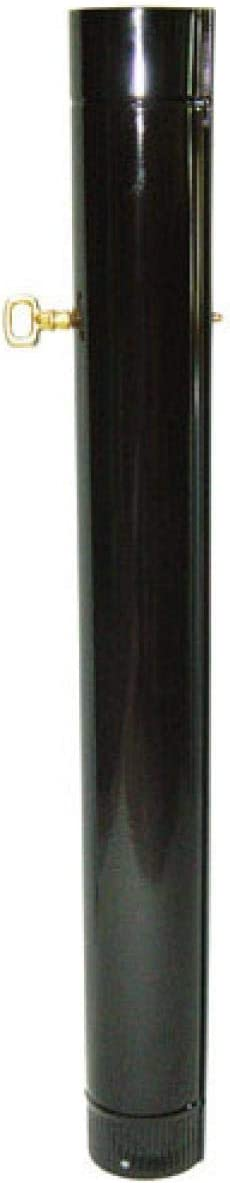 Sin marca 22011007 Wolfpack Tubo Acero Vitrificado Ø 110 mm. con Llave Estufas de Leña, Chimenea, Alta Resistencia, Color Negro