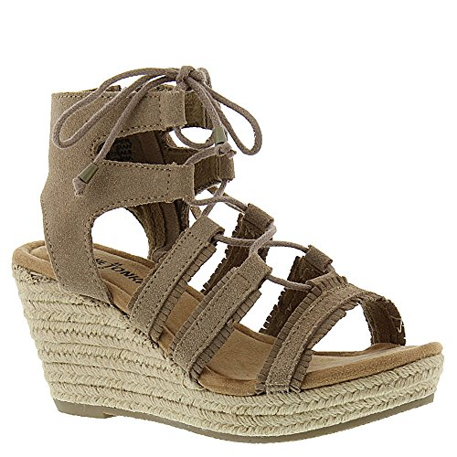 Minnetonka Womens Leighton Wedge Sandal Taupe Size 9